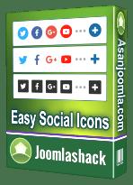 افزونه Easy Social Icons Pro 3.1.5-آیکون های شبکه های اجتماعی برای جوملا