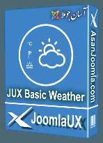 افزونه JUX Basic Weather 1.0.0-نمایش ساده وضعیت آب و هوا در جوملا